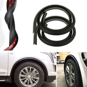 2Pc Fender Flares Wheel Protector rubber Lip Trim Protective 150cm  for all Car
