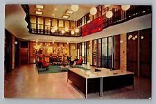 Moorhead Minnesota MN Concordia College Hall Building Interior Postcard 1965