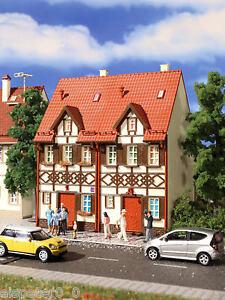 Vollmer 3847, Reihen-Doppelhaus (Fachwerk), H0 Gebäude Bausatz 1:87, Neu, OVP