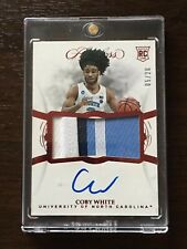 2019/20 Flawless Collegiate Basketball Coby White Red RPA RC Patch Auto /20