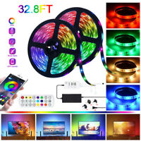 5-15M Bluetooth Music 5050 RGB LED Strip Light Waterproof SmartPhone APP Control