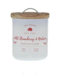 DW Home Wild Strawberry And Nectarine Single Wick, White Wax 8.7 oz