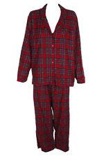 Family Pjamas Red Plaid Notch Collar Pajama Top XXL