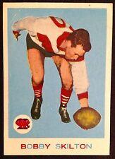 1964 SCANLENS VFL CARD NO. 10/33 FEATURING BOB SKILTON SOUTH MELB.  GOOD COND