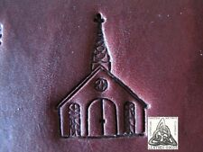 """Discontinued 1997 Craftool Co USA Country Church 1"""" Leather Stamp Tool 8508"""
