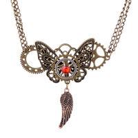 Spider Gear Pendant Steampunk Necklace Punk Goth Rock Victorian Accessories