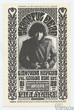 Bill Graham 32 Handbill Grateful Dead Yardbirds 1966 Oct 21