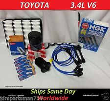 NGK Wire Set-Spark Plugs-Air-Fuel-Oil-Kit Toyota 4Runner & Tacoma V6 3.4L