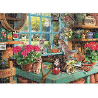 1000 Pieces DIY Window Sill Cat Puzzle Educational Learning Assembling Toys