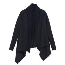 OAK NYC Unisex Black Poly Fleece Long Sleeve Wrap WT053P Sz 1