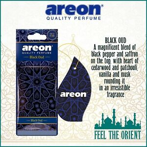 10x BLACK OUD Areon Mon ORIENT Car & Home Long Lasting Air Freshener Auto NEW