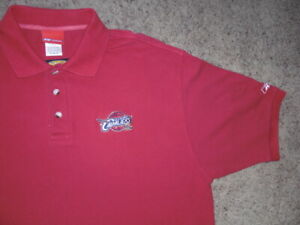 CLEVELAND CAVALIERS Reebok Play Dry sewn polo shirt men's Large