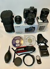Canon EOS 70D 20.2 MP EF-S 18-135mm f/3.5-5.6 IS STM Lens Kit - Black + 2 lenses