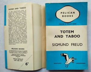 SIGMUND FREUD TOTEM AND TABOO 1ST/2 1940 PENGUIN A33 JACKET LIKELY UNREAD COPY !