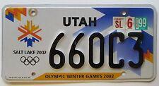Utah 1999 OLYMPIC WINTER GAMES GRAPHIC License Plate # 660C3