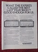 1977 Print Ad Pioneer Electronics SA 9500II & TX 9500II ~ Not Good Enough For Us
