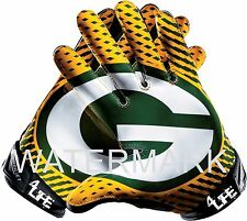"Green Bay Packers 4Life  5.5""x6"" Car Truck Window Glossy Glove Decal Stickers"