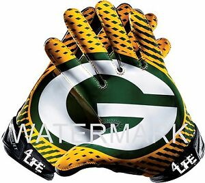 """Green Bay Packers 4LIFE 6"""" NFL Car Window Or Wall Glossy Gloves Sticker Decals"""