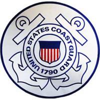 "US Coast Guard  ""US COAST GUARD""   PATCH  Iron / Sew-on 12 inch patch"
