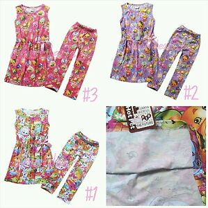 Kids Girls Outfits Summer Casual Holiday Shopkins Dress & Leggings