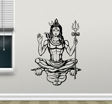 Shiva God Wall Decal Hindu Art Yoga Indian Vinyl Sticker Religion Mural 100xxx