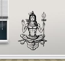 Shiva God Wall Decal Hindu Art Yoga Indian Vinyl Sticker Religion Mural 100xxx