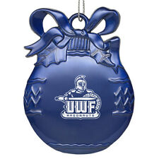 University of West Florida - Pewter Christmas Tree Ornament - Blue
