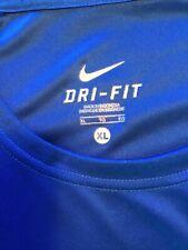 mens Nike Dri-fit Blue White short sleeve shirt sz Xl Tall