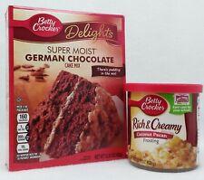 Betty Crocker Super Moist GERMAN CHOCOLATE Cake Mix & COCONUT PECAN Frosting SET