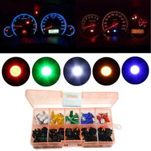 30 pcs T5 LED Twist Socket Non-Decoding Car Dashboard Bulb Lights Mixed Color