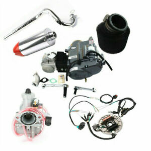 LIFAN 125CC Engine Motor w/ Exhaust Muffler for Dirt Pit Bike ATC70 CT70 CRF50