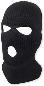 New 3 Hole Beanie Black Face mask Winter Hat In Store Snow Balaclava workwear