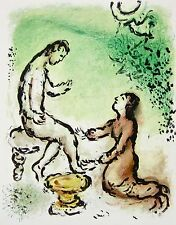 Ulysses and Euryclea (The Odyessy) 1989 Limited Edition Lithograph Marc Chagall