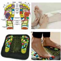 Reflexology Walk Stone Pain Relieve Foot Leg Relief Acupressure Mat Sel P4K2