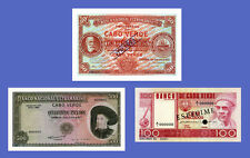 CAPE VENDER - Lots of 3 notes - 50...500 Escudos - Reproductions