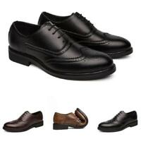 Brogue Mens Dress Formal Business Leisure Shoes Wing Tip Carved Oxfords Casual L