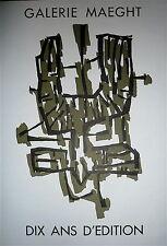 Raoul Ubac Affiche originale Lithographie Art Abstrait Galerie Maeght Paris