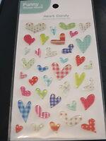 Puffy Heart Candy Sticker Sheet 3D Raised Individual Stickers Craft Scrapbook