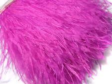 F107 PER 30cm- Fuschia Ostrich feather fringe Trim Brooch/Fascinator Material