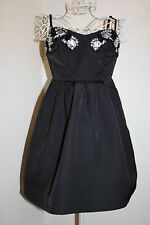 'ELLIE' DRESS BY 'DARLING'. GORGEOUS BLACK  PARTY/PROM DRESS 8 XS WORN ONCE ONLY