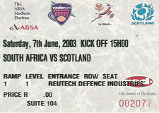 SOUTH AFRICA v SCOTLAND 1st Test 2003 RUGBY TICKET