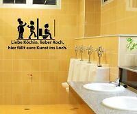 Aufkleber WC Deckel, Toiletten Sticker, Bad Spruch lustig Klodeckel Tattoo 3C015