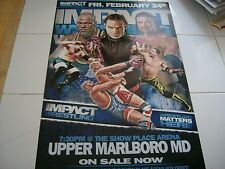 Impact Wrestling Poster and Ticket From 2/24/12 - Jeff Hardy - Kurt Angle