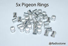 8 mm. Pigeon Rings Aluminum Rings, Bands For Pigeons 5 pcs Silver. USA Seller