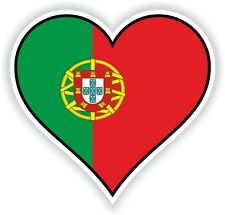PORTUGAL HEART vinyl STICKER bumper decal GIFT LOVE FLAG MOTO LAPTOP TABLET