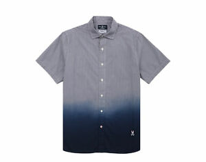 Psycho Bunny Bethells Sport Short Sleeve Navy Blue Men's Shirt B6Q317E1PC-NVY