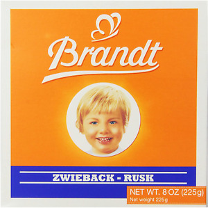 Brandt Zwieback, 8-Ounce Box (Pack of 10)