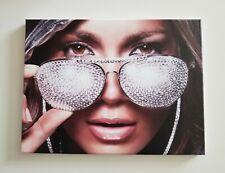 "Canvas Print Jennifer Lopez J-Lo Wearing Bling Sunglasses 12""x16"""