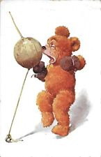 Lawson Wood Teddy Bear Boxing Handsome Vintage postcard used in 1933