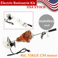 Universal Rotisserie Grill BBQ Roaster Pig Spit Rod Electric Motor Set